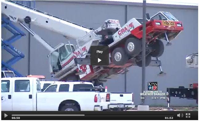 Spare Parts Link Belt Crane : Cranes service inc link belt truck crane tips over in