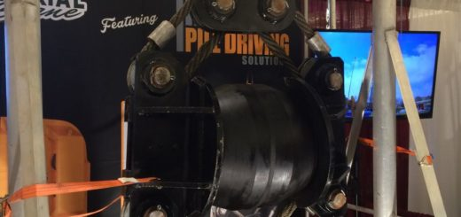 The Tunker vibratory damper is available through Pile Driving Solutions in the U.S.