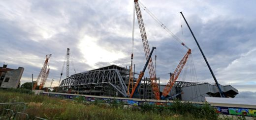 The process of installing the roof is expected to take place all day. Credit: Press Association