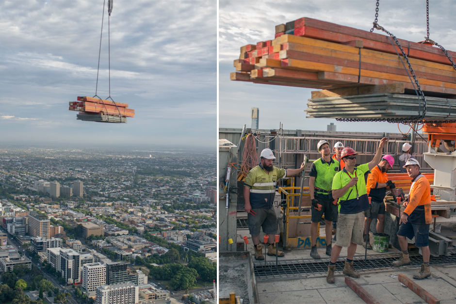 Construction In The Sky The High Rise Crane Crew ⋆ Crane