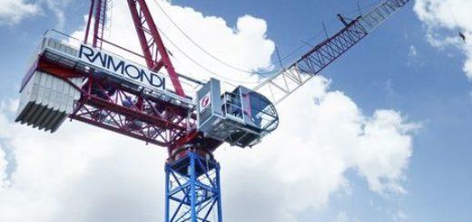 Raimondi's new 14 tonne LR213 luffing jib tower crane