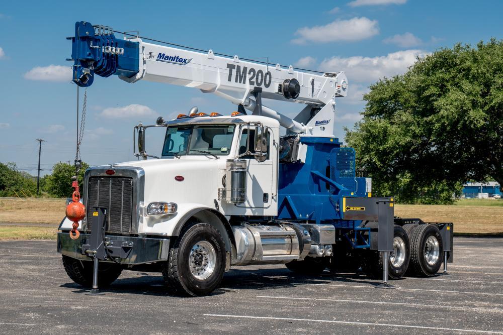 Tractor Hydraulic Boom Crane : Manitex adds ton tractor mounted telescopic crane to