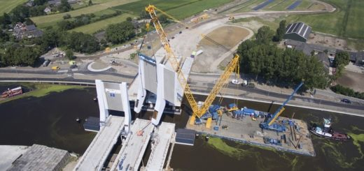 Sarens Group has been involved in a project at Queen Maxima Bridge