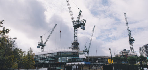 Potain cranes are working on a prestigious project at Wimbledon Tennis