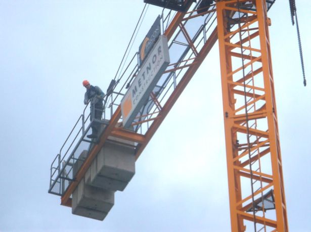 Crane operator who became unwell with suspected heart attack was saved by his co-workers