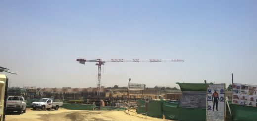 The first Potain MDT 389 cranes in the Middle East are constructing the Almaza City Centre retail mall in Cairo