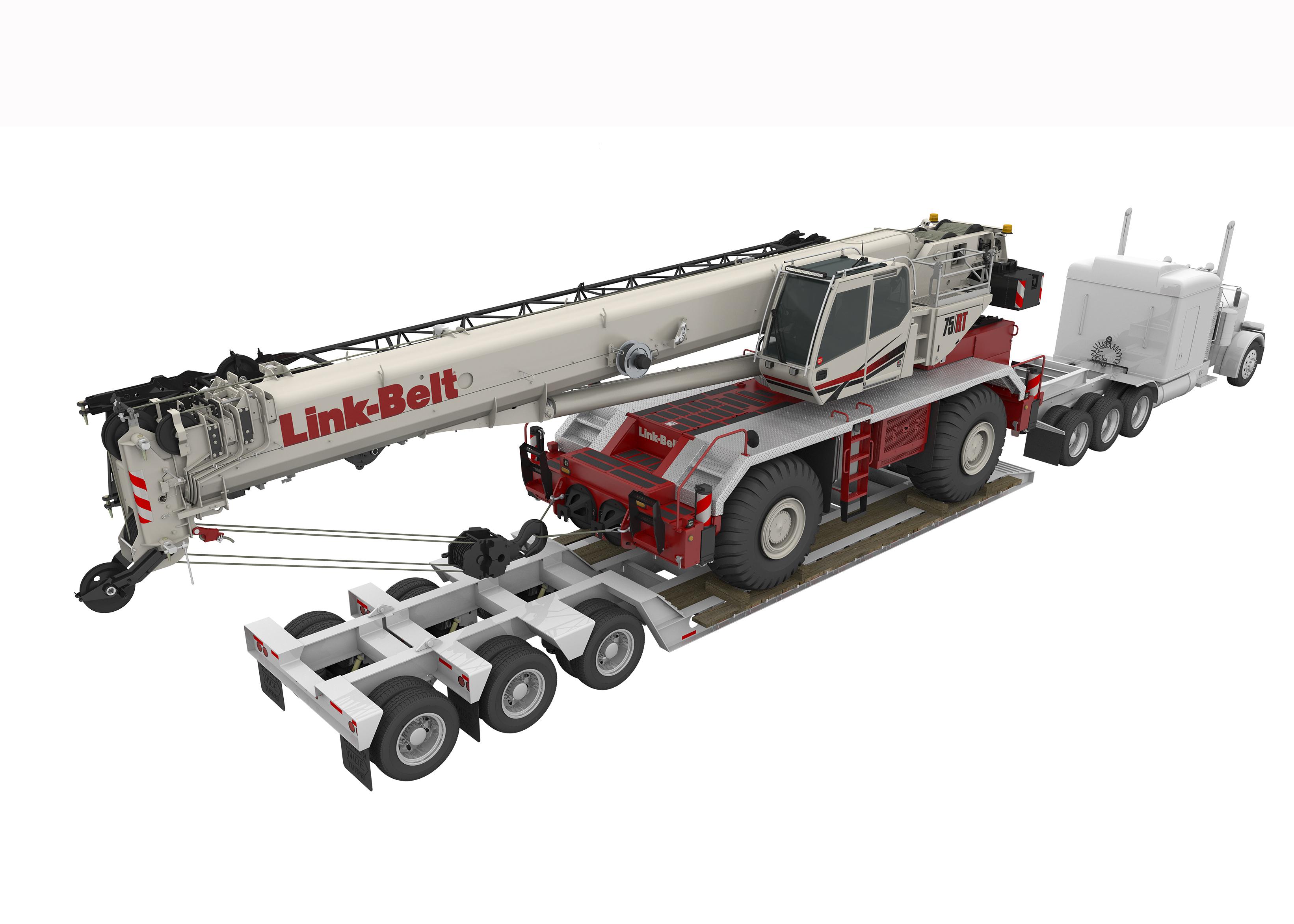 Featured Crane Link Belt 75rt Rough Terrain Network News Kenworth T370 Fuse Box Transport