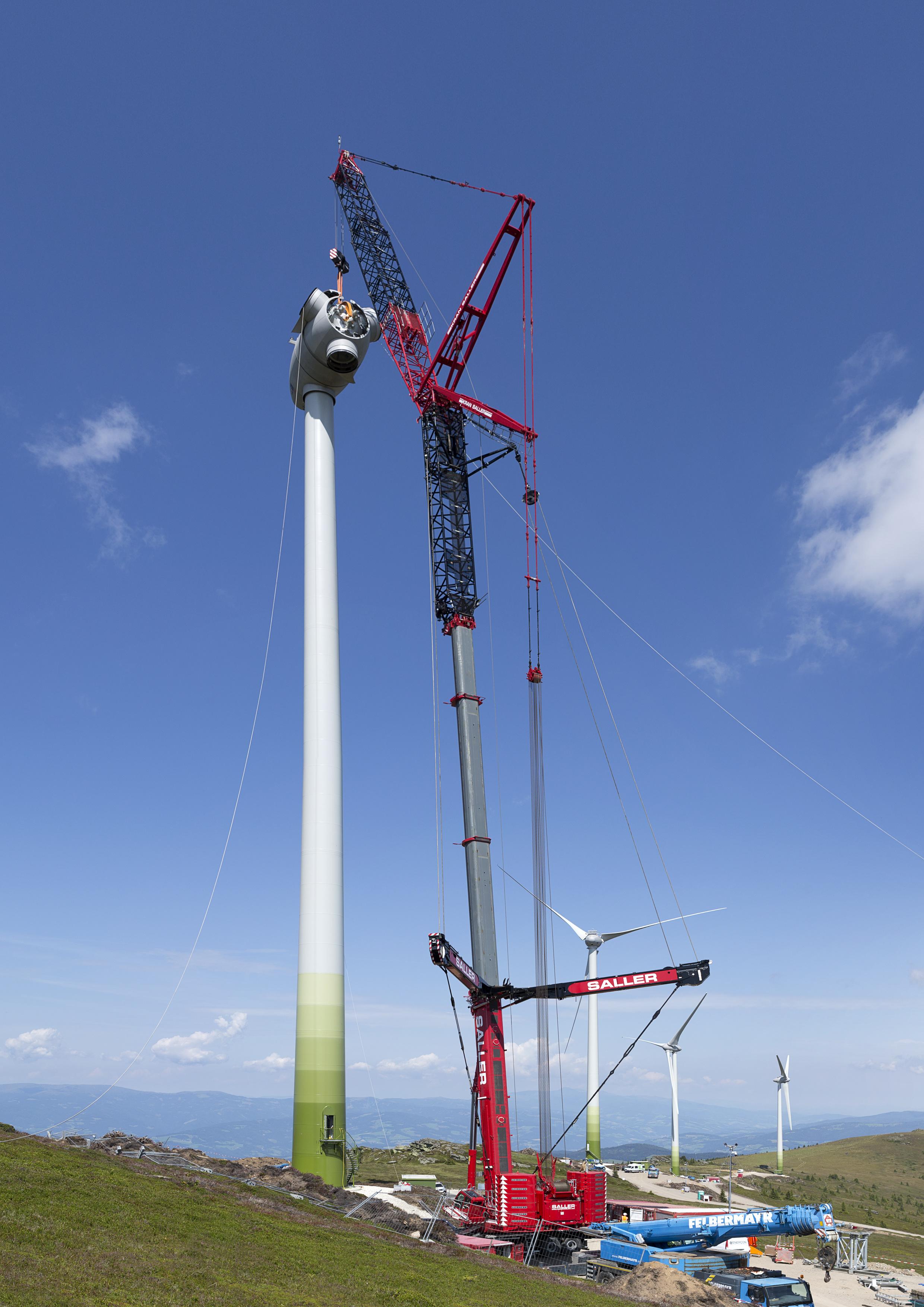 liebherr ltm 1750 9 1 erect turbines at 5 500 foot. Black Bedroom Furniture Sets. Home Design Ideas