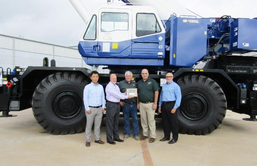 Scott-Macon Equipment Takes Delivery of Tadano GR-1200XL RT Crane