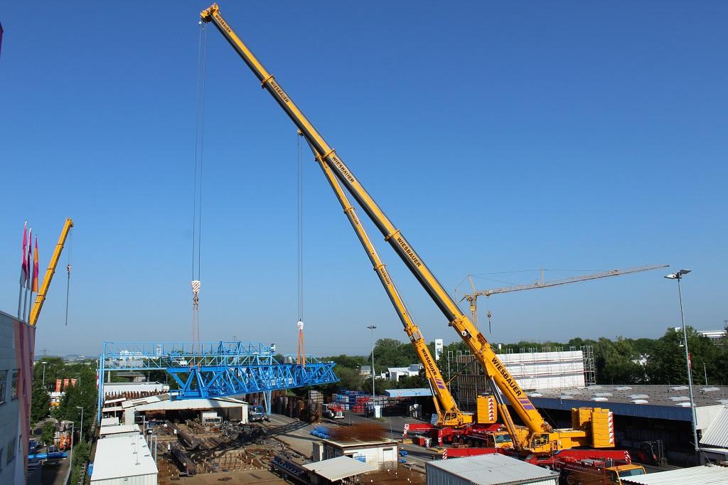 wiesbaur all-terrain cranes tandem gantry crane lift